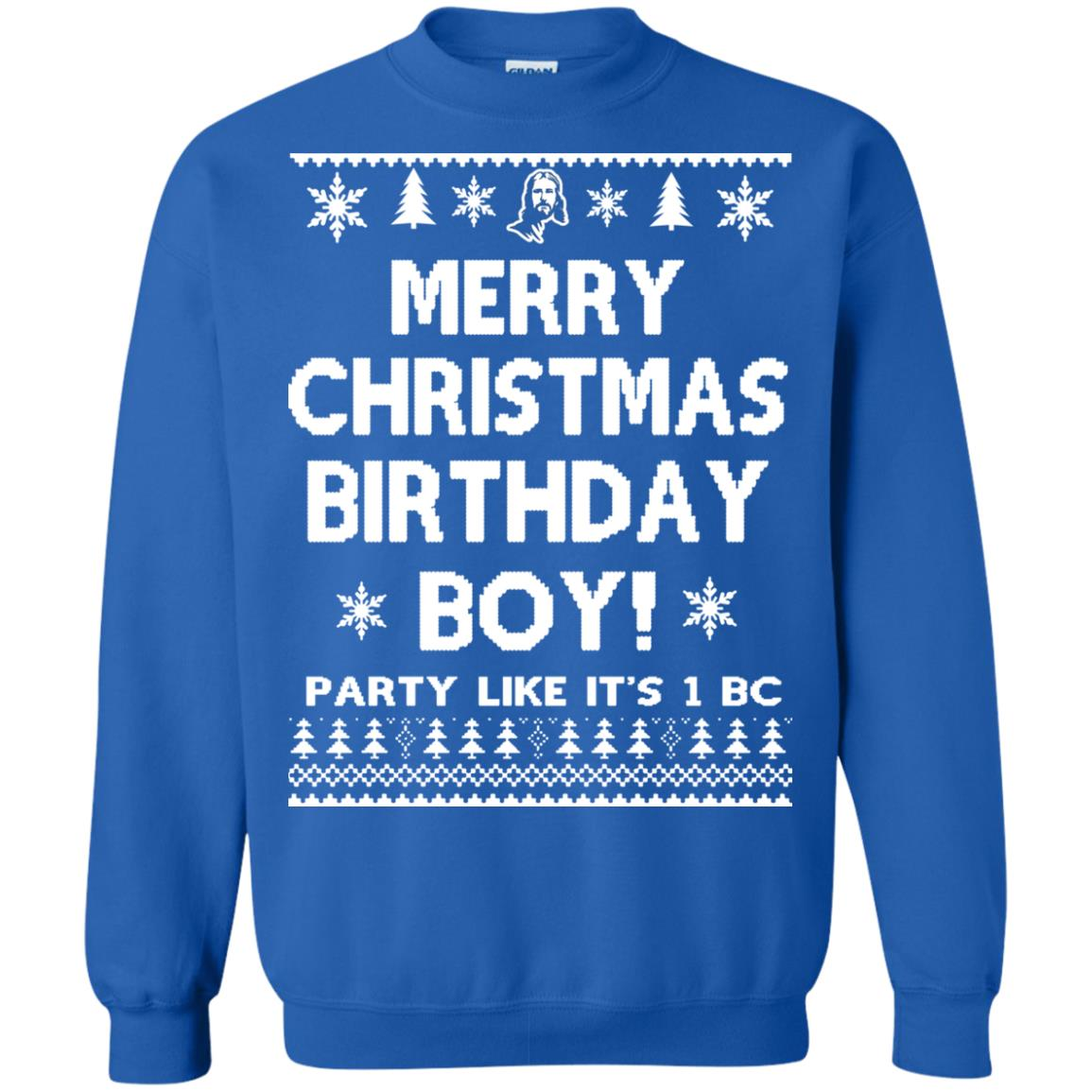 image 3181 - Jesus Merry Christmas Birthday Boy Sweater, Hoodie, Long Sleeve