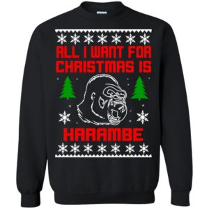 image 3273 300x300 - All I Want For Christmas Is Harambe Ugly Sweater, Hoodie