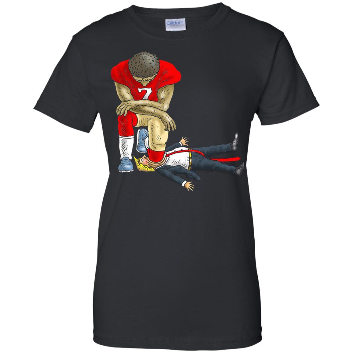 afec1d25 Colin Kaepernick kneels Donald Trump t-shirt, hoodie - Rockatee