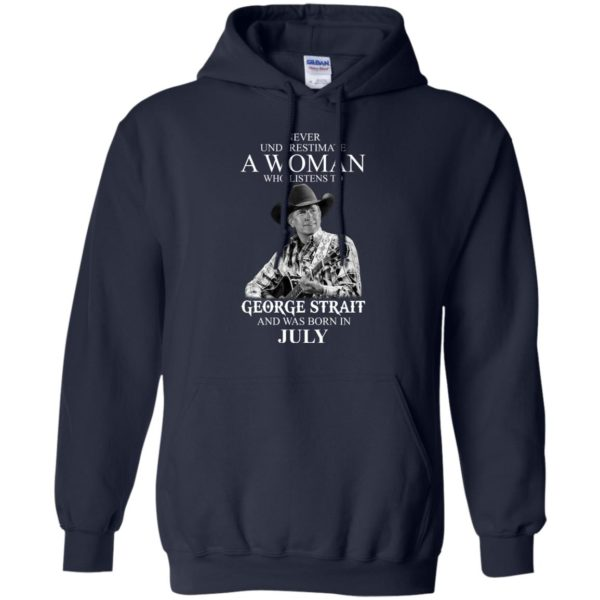 image 403 600x600 - Never Underestimate A Woman Who Listens To George Strait And Was Born In July shirt