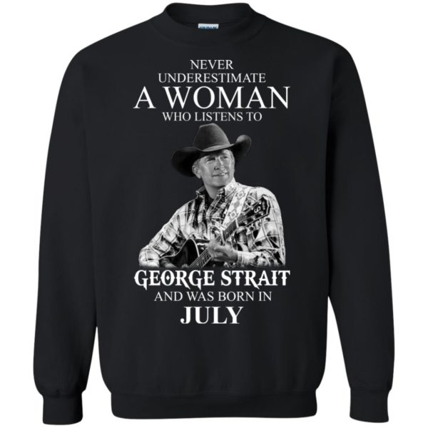 image 404 600x600 - Never Underestimate A Woman Who Listens To George Strait And Was Born In July shirt