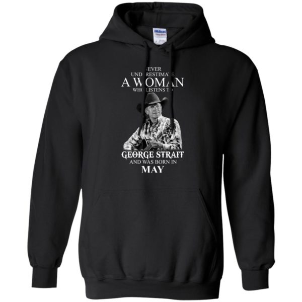 image 414 600x600 - Never Underestimate A Woman Who Listens To George Strait And Was Born In May shirt