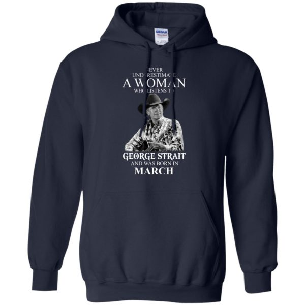 image 439 600x600 - Never Underestimate A Woman Who Listens To George Strait And Was Born In March shirt