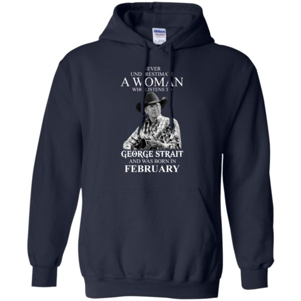 image 451 600x600 - Never Underestimate A Woman Who Listens To George Strait And Was Born In February shirt