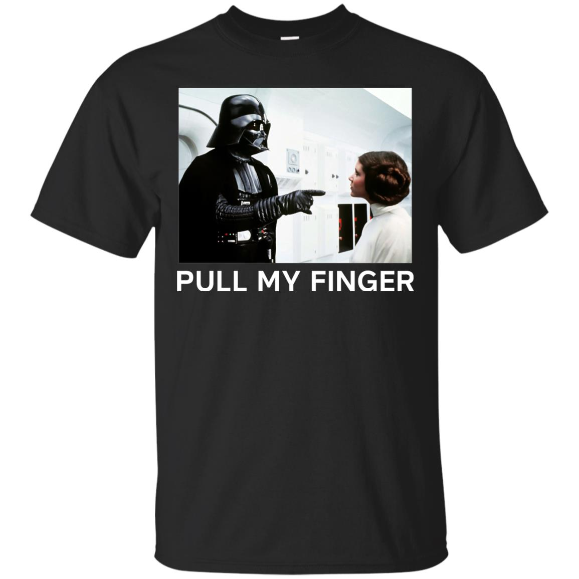 image 530 - Star Wars Darth Vader & Princess Leia: Pull My Finger shirt