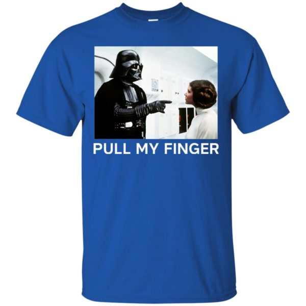 image 531 600x600 - Star Wars Darth Vader & Princess Leia: Pull My Finger shirt