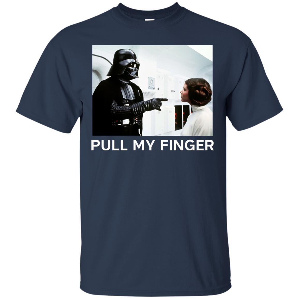 image 532 - Star Wars Darth Vader & Princess Leia: Pull My Finger shirt
