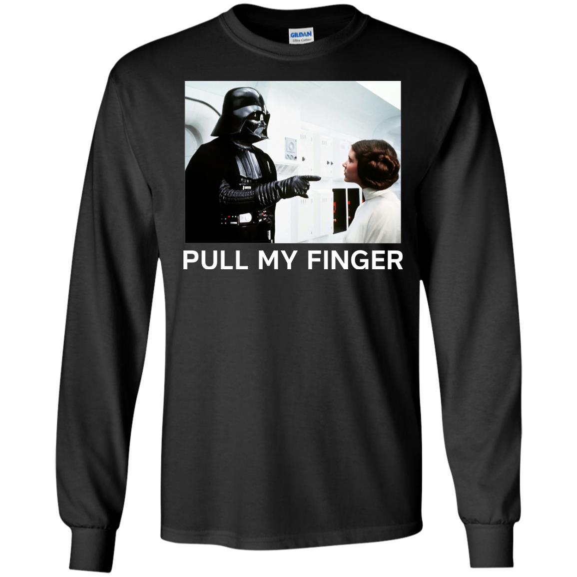 image 533 - Star Wars Darth Vader & Princess Leia: Pull My Finger shirt