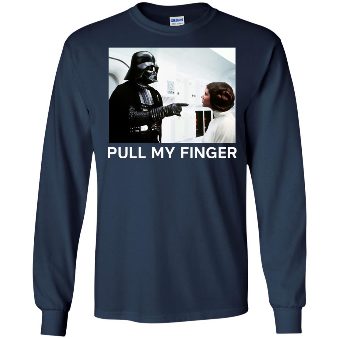 image 534 - Star Wars Darth Vader & Princess Leia: Pull My Finger shirt