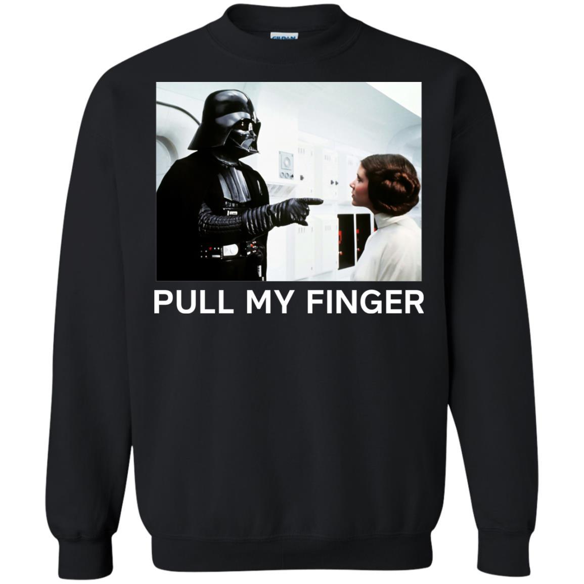 image 537 - Star Wars Darth Vader & Princess Leia: Pull My Finger shirt