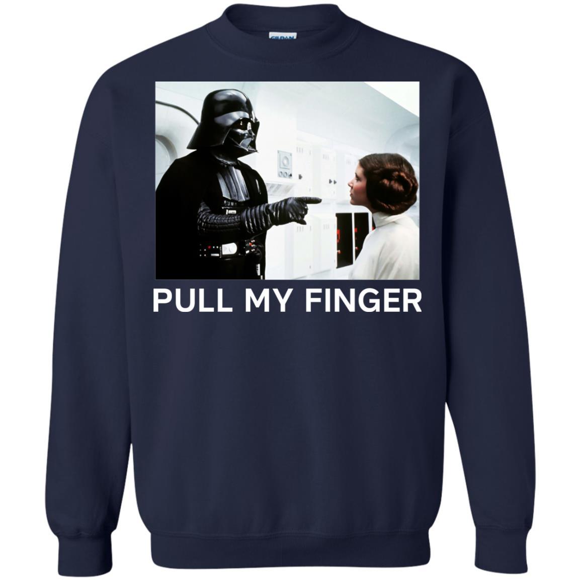 image 538 - Star Wars Darth Vader & Princess Leia: Pull My Finger shirt