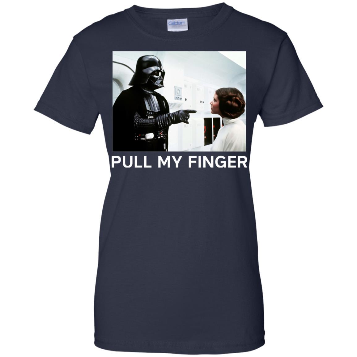image 542 - Star Wars Darth Vader & Princess Leia: Pull My Finger shirt