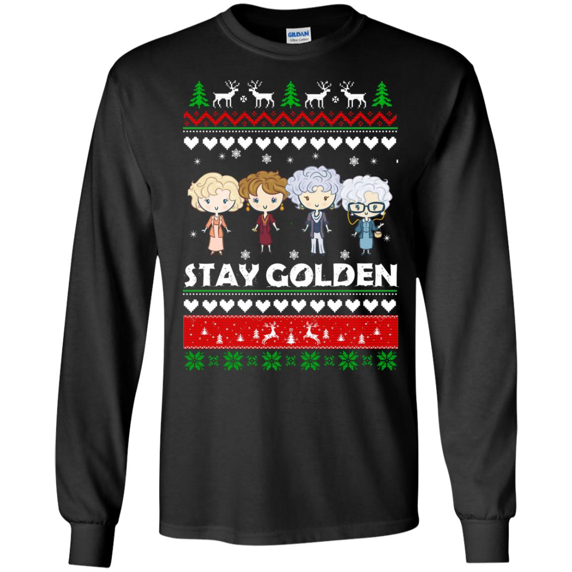 image 701 - Golden Girls Stay Golden Ugly Christmas Sweater, Hoodie