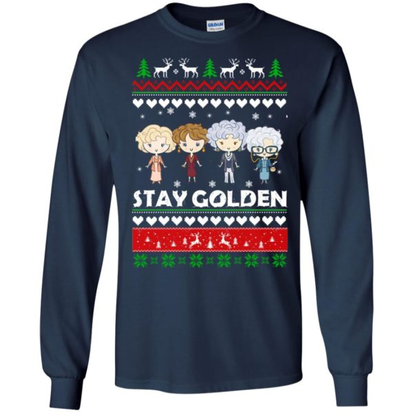 image 702 600x600 - Golden Girls Stay Golden Ugly Christmas Sweater, Hoodie