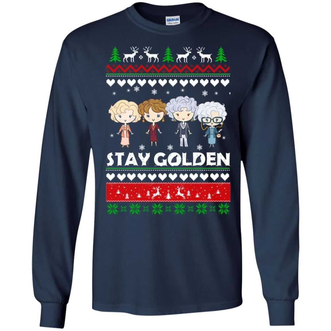 image 702 - Golden Girls Stay Golden Ugly Christmas Sweater, Hoodie
