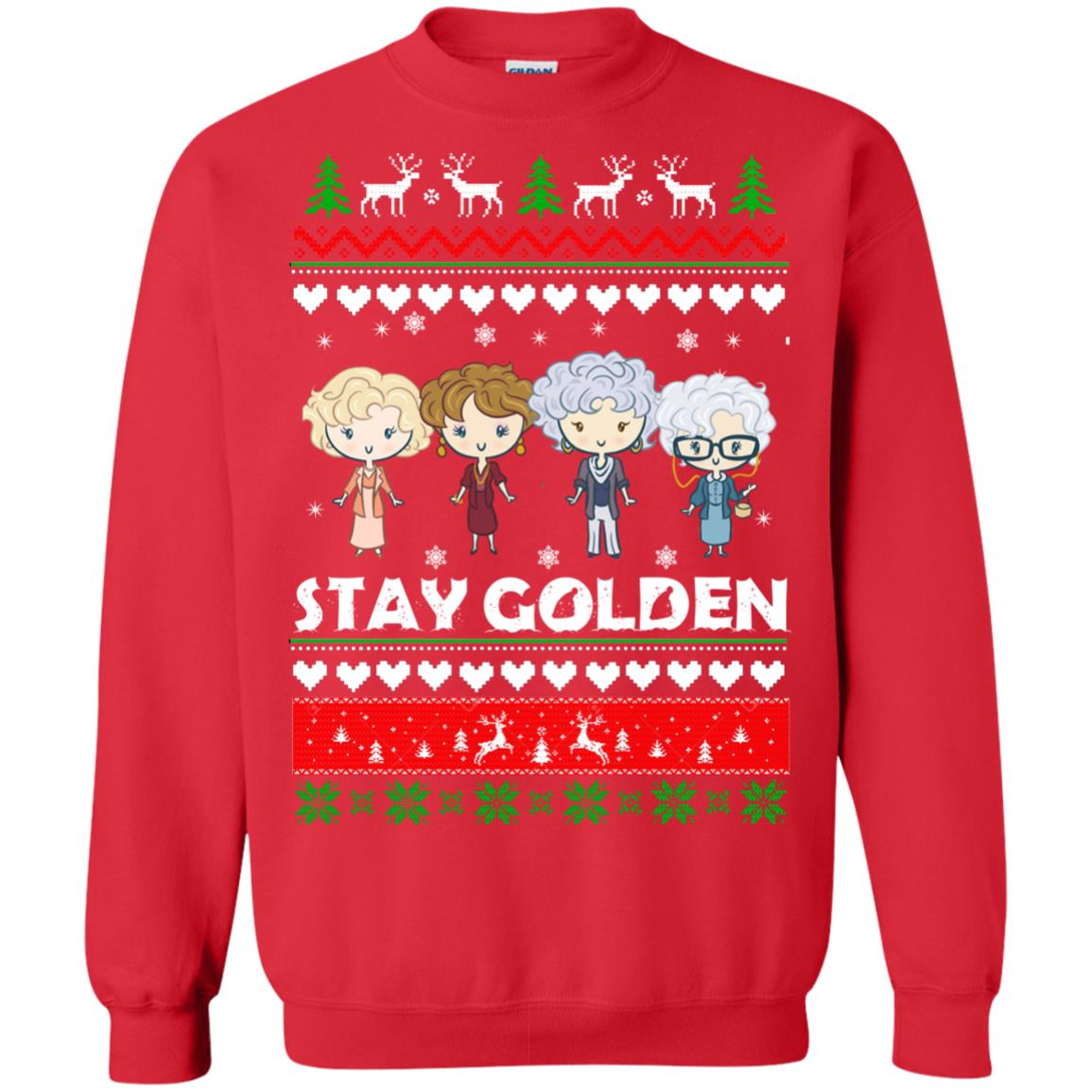image 707 - Golden Girls Stay Golden Ugly Christmas Sweater, Hoodie