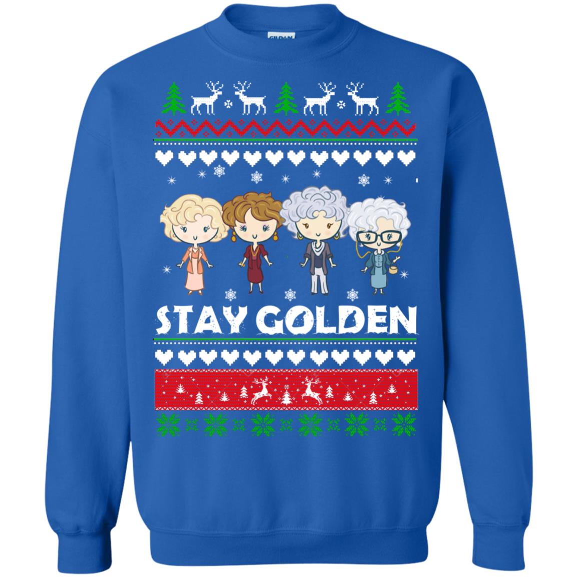image 709 - Golden Girls Stay Golden Ugly Christmas Sweater, Hoodie