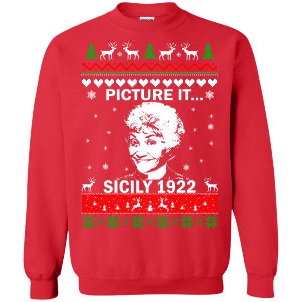 image 719 600x600 - Sophia: Picture it! Sicily 1922 Christmas Sweater, Long Sleeve