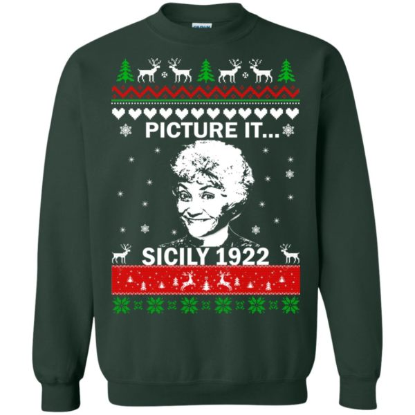 image 720 600x600 - Sophia: Picture it! Sicily 1922 Christmas Sweater, Long Sleeve