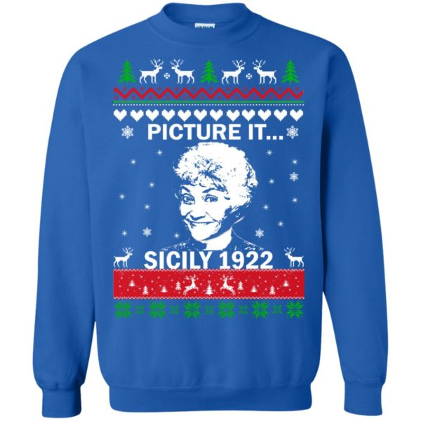 image 721 600x600 - Sophia: Picture it! Sicily 1922 Christmas Sweater, Long Sleeve