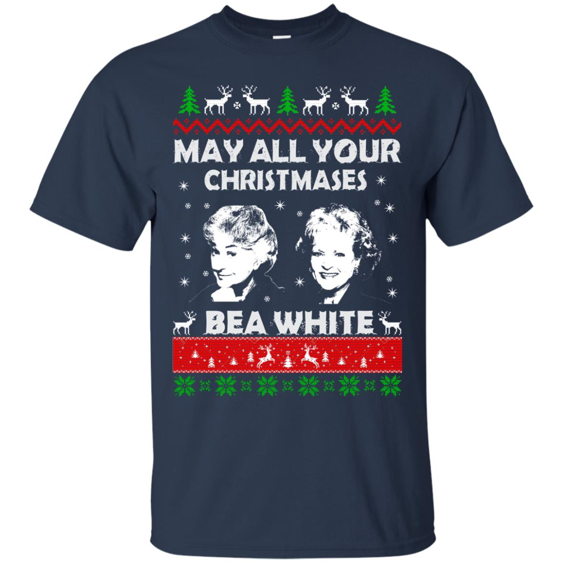 image 724 - May all your Christmases Bea White Ugly Sweater, Hoodie