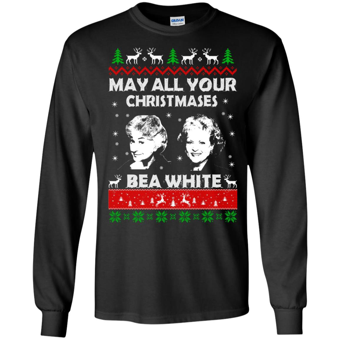 image 725 - May all your Christmases Bea White Ugly Sweater, Hoodie