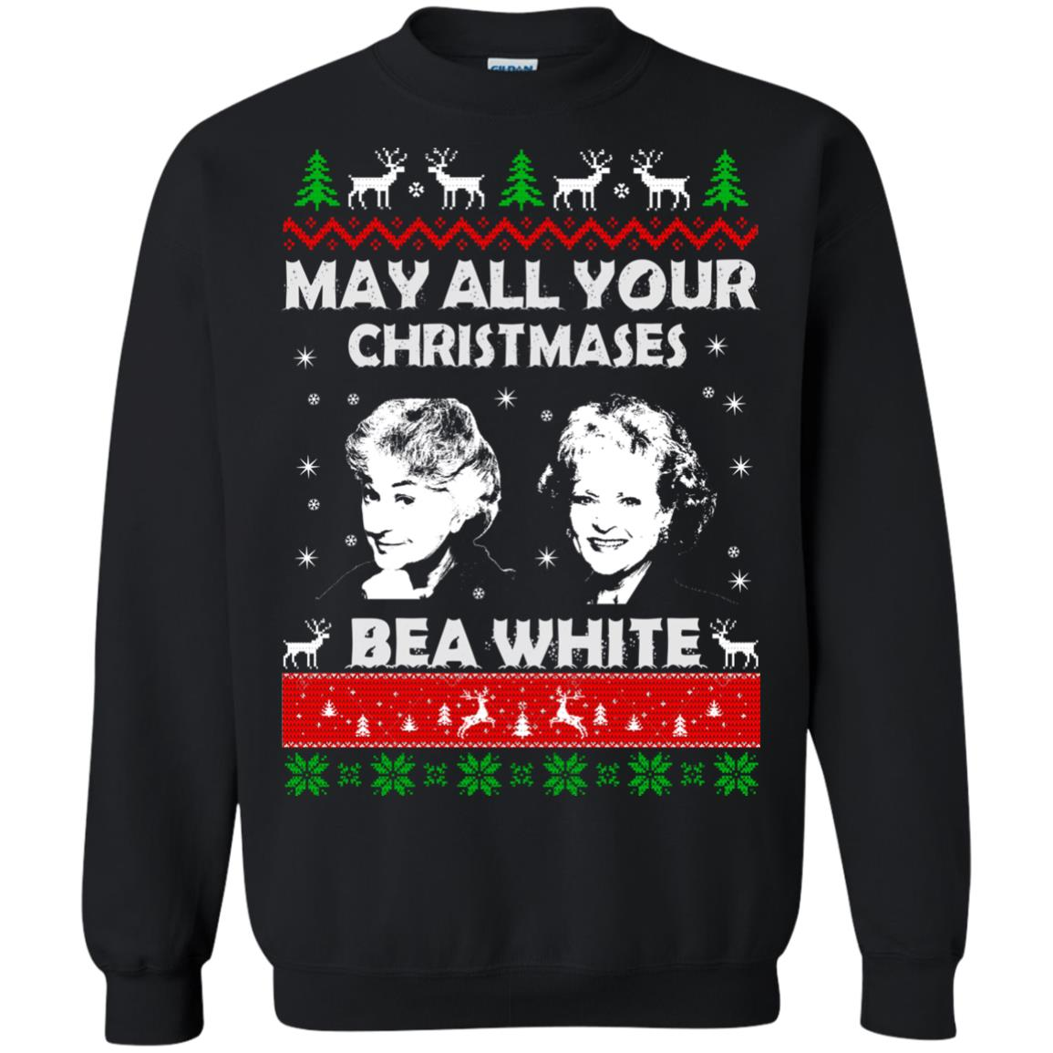 image 729 - May all your Christmases Bea White Ugly Sweater, Hoodie