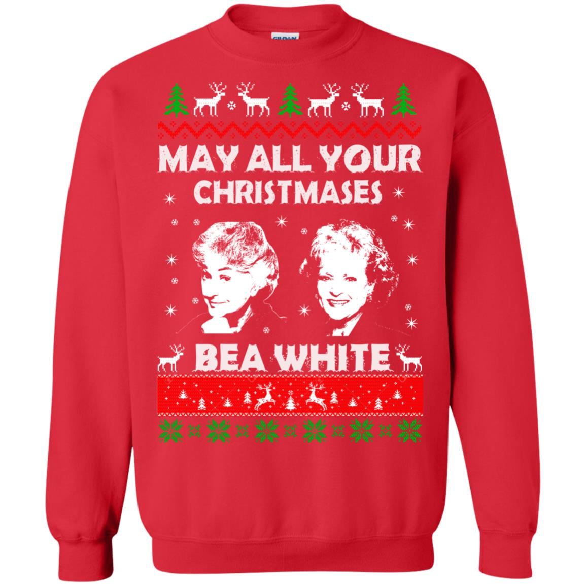image 731 - May all your Christmases Bea White Ugly Sweater, Hoodie