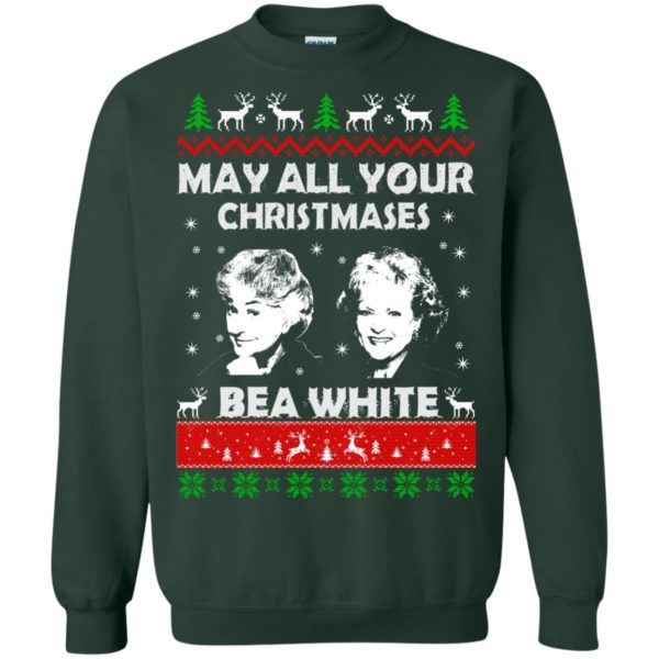 image 732 600x600 - May all your Christmases Bea White Ugly Sweater, Hoodie