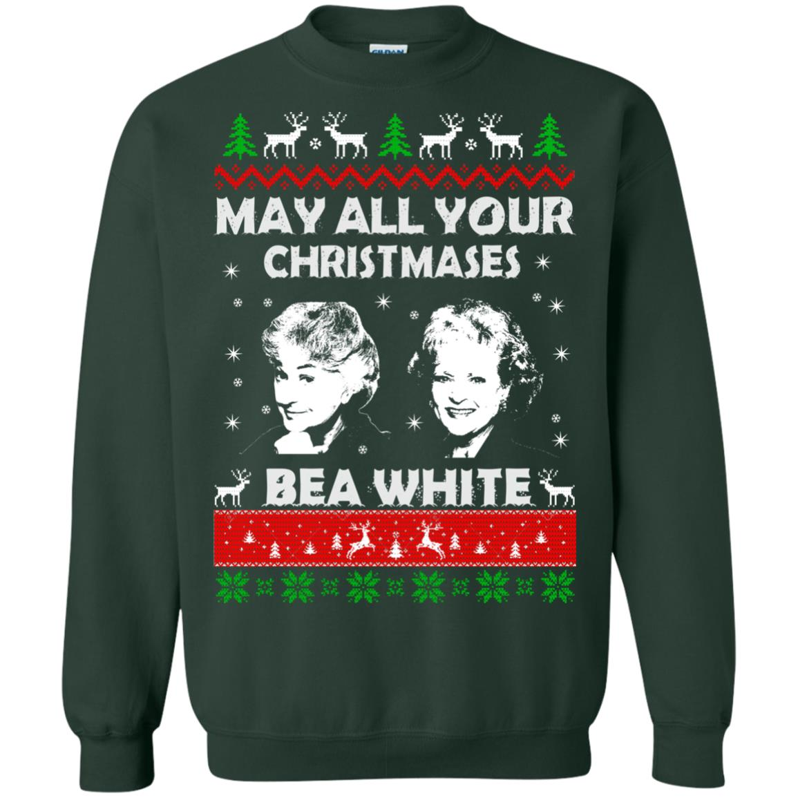 image 732 - May all your Christmases Bea White Ugly Sweater, Hoodie