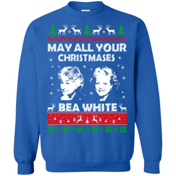 image 733 600x600 - May all your Christmases Bea White Ugly Sweater, Hoodie