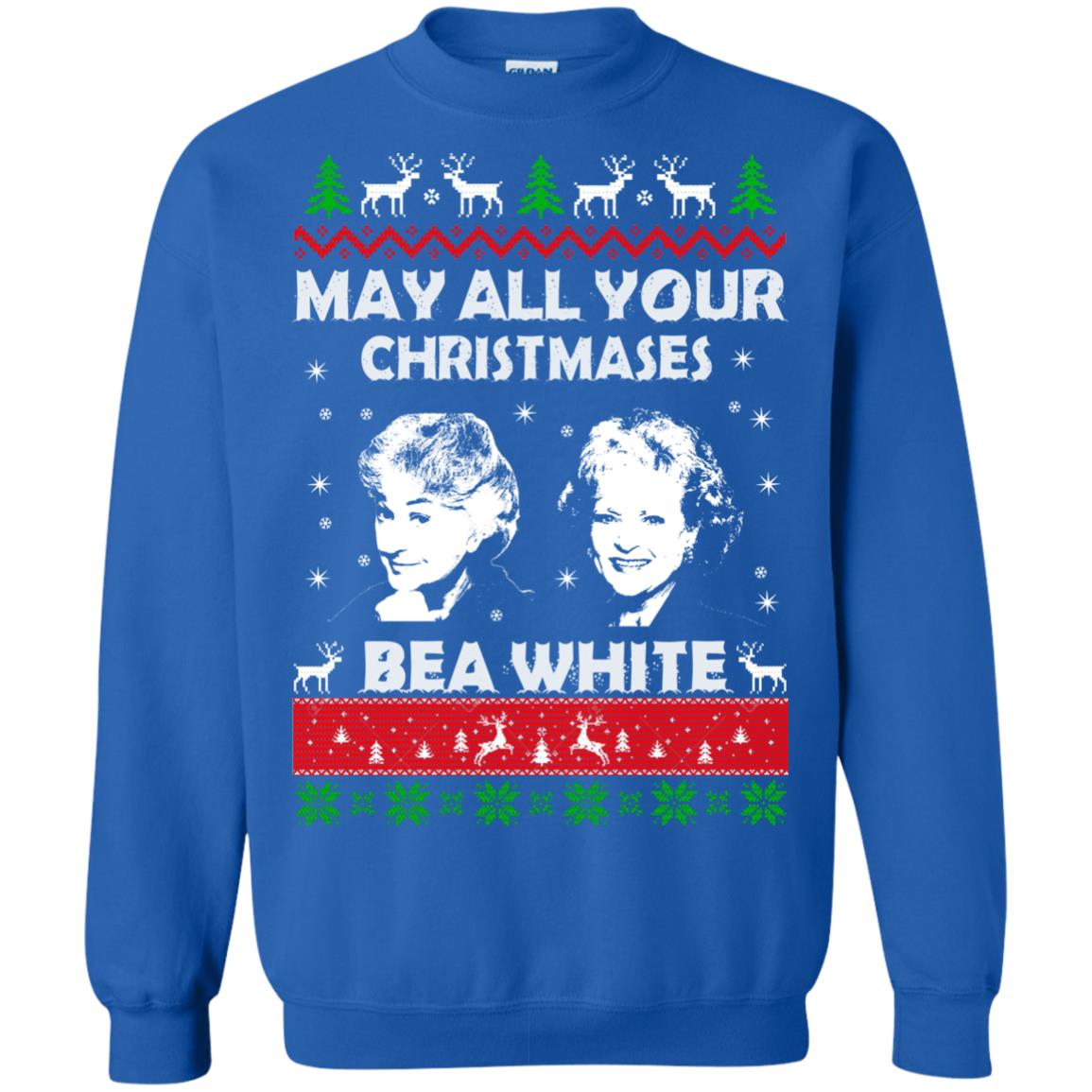 image 733 - May all your Christmases Bea White Ugly Sweater, Hoodie