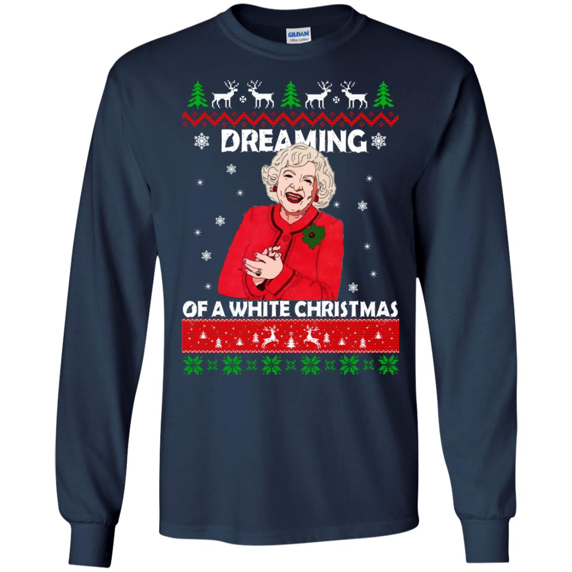 image 738 - Betty White: Dreaming of a White Christmas Sweater, Hoodie