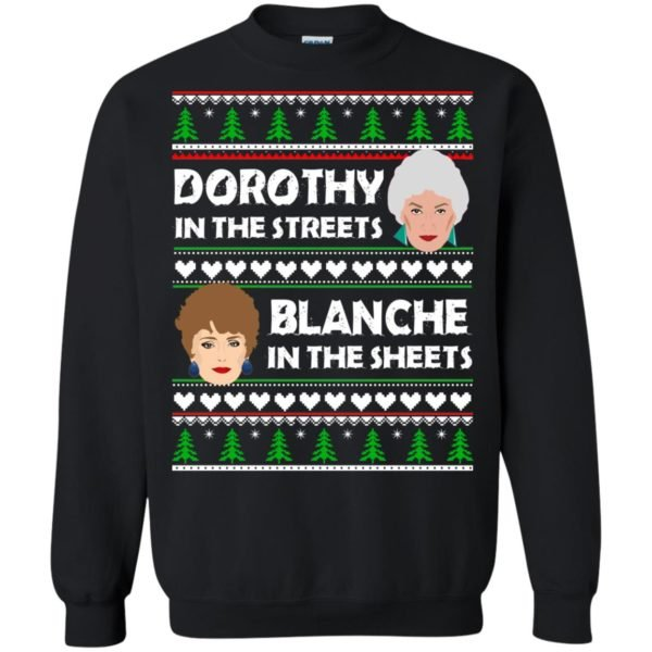 image 753 600x600 - Dorothy in the Streets Blanche in the Sheets Christmas Sweater