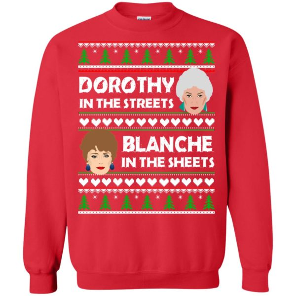 image 755 600x600 - Dorothy in the Streets Blanche in the Sheets Christmas Sweater
