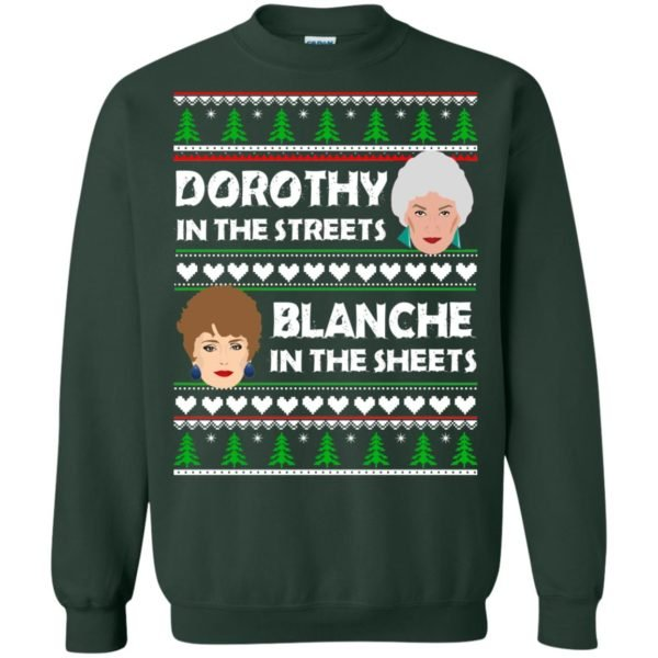 image 756 600x600 - Dorothy in the Streets Blanche in the Sheets Christmas Sweater