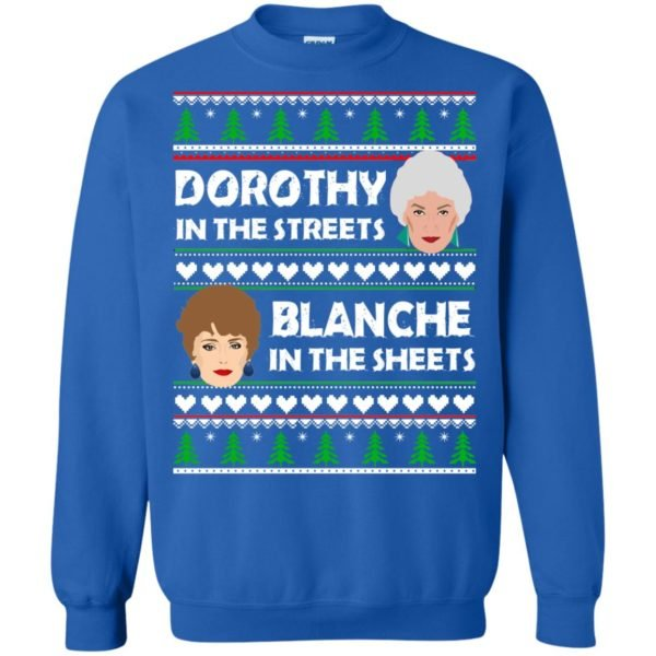 image 757 600x600 - Dorothy in the Streets Blanche in the Sheets Christmas Sweater
