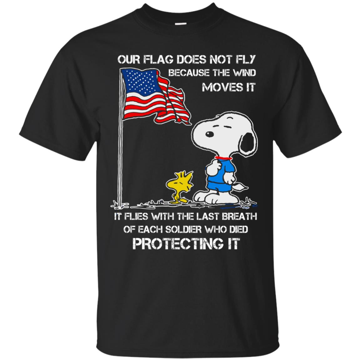 image 795 - Snoopy: Our flag does not fly because the wind moves it shirt, sweater