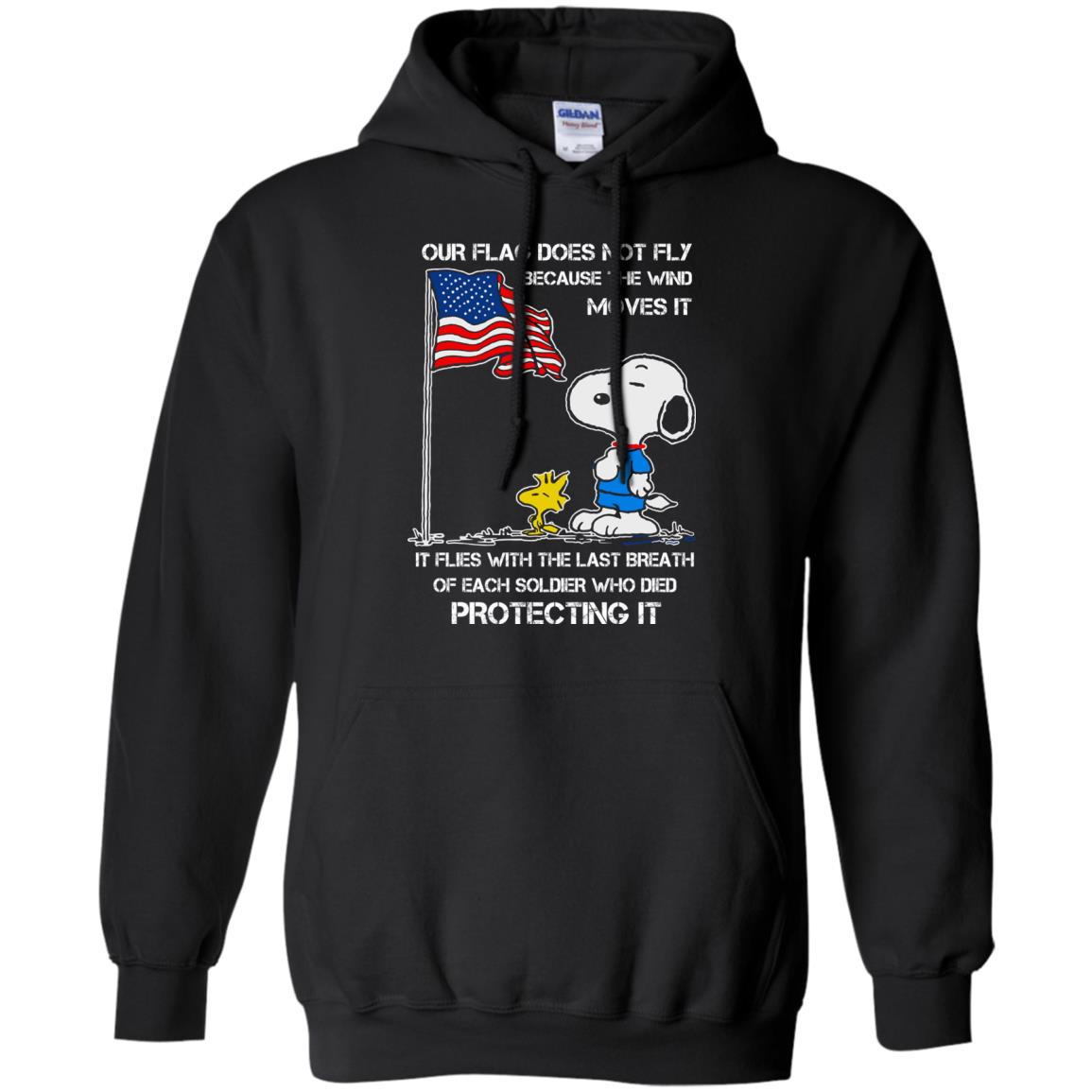 image 799 - Snoopy: Our flag does not fly because the wind moves it shirt, sweater