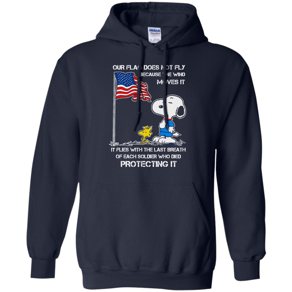 image 800 - Snoopy: Our flag does not fly because the wind moves it shirt, sweater