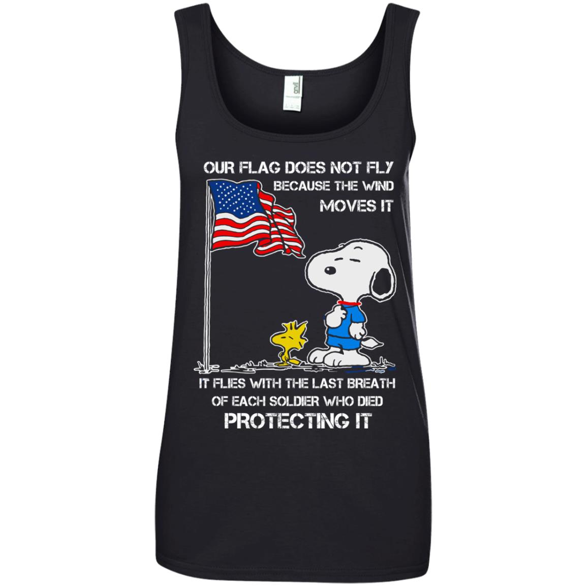 image 803 - Snoopy: Our flag does not fly because the wind moves it shirt, sweater
