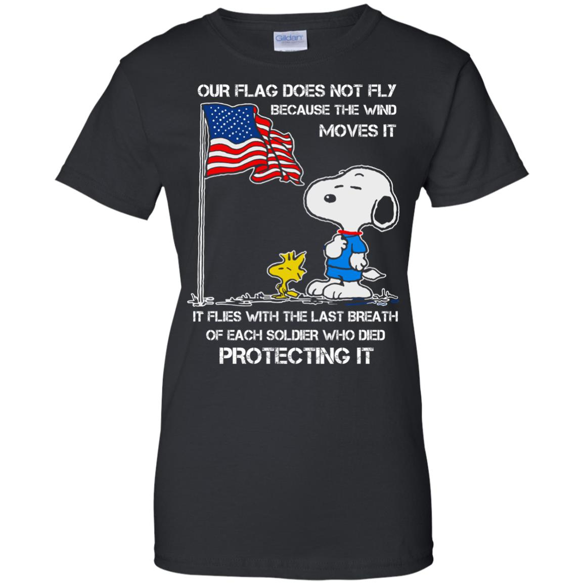 image 805 - Snoopy: Our flag does not fly because the wind moves it shirt, sweater