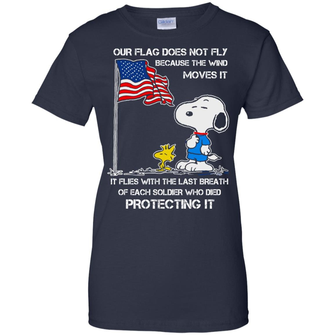image 806 - Snoopy: Our flag does not fly because the wind moves it shirt, sweater
