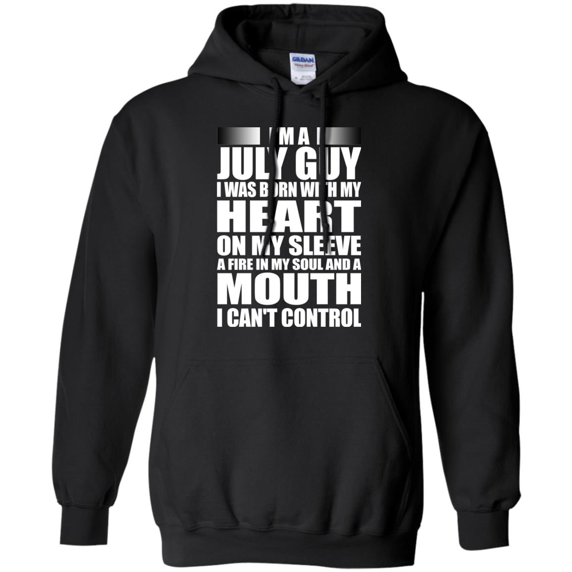 image 915 - I'm a July guy I was born with my heart on my sleeve shirt, hoodie, tank