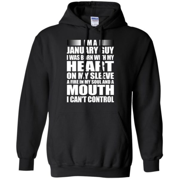 image 993 600x600 - I'm a January guy I was born with my heart on my sleeve shirt, hoodie, tank