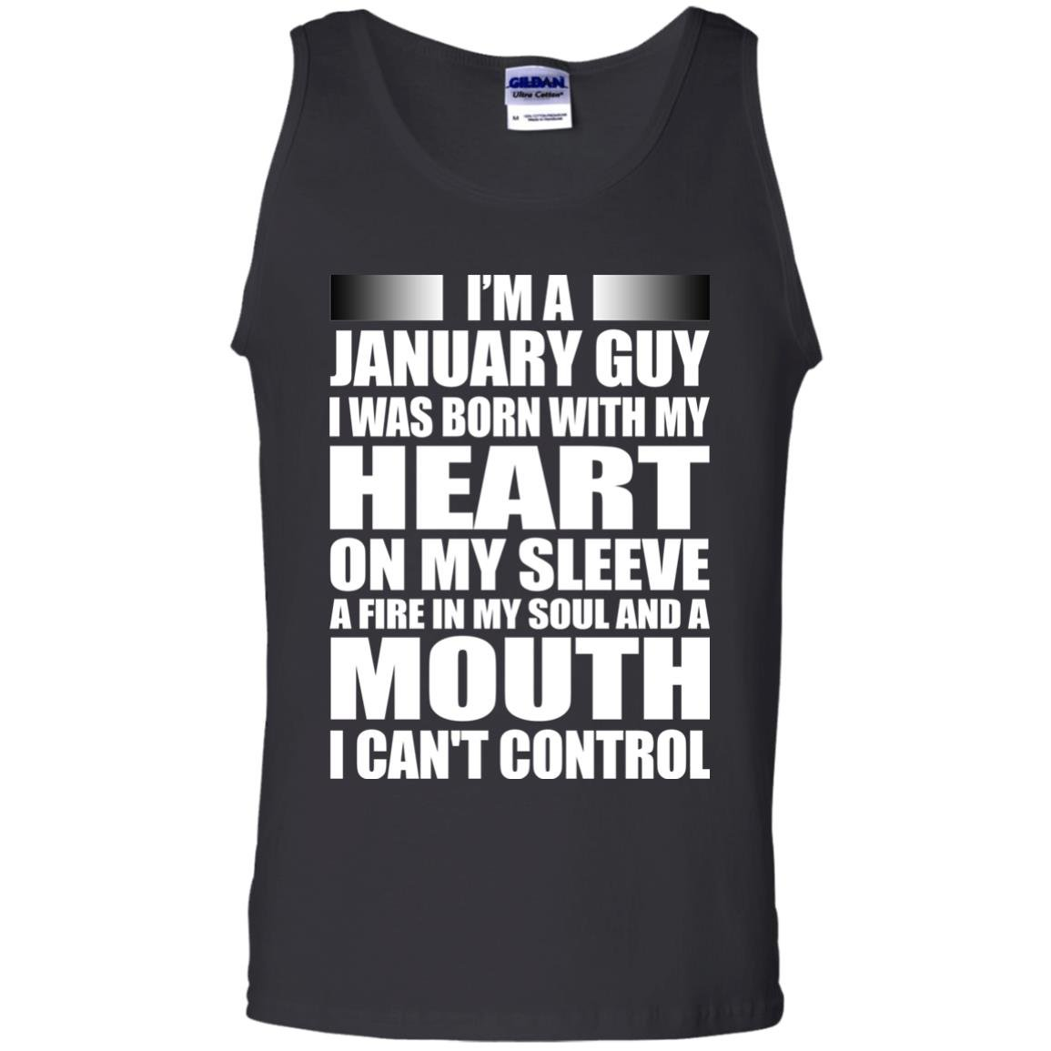 image 997 - I'm a January guy I was born with my heart on my sleeve shirt, hoodie, tank