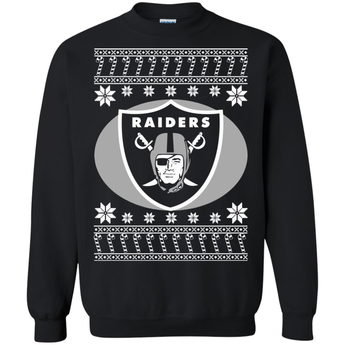 Oakland Raiders Christmas Sweater, Ugly Sweatshirts - Rockatee