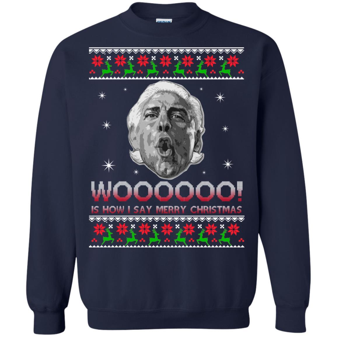 image 1225 - Ric Flair Woo Christmas Sweater, Ugly Sweatshirt, Hoodie