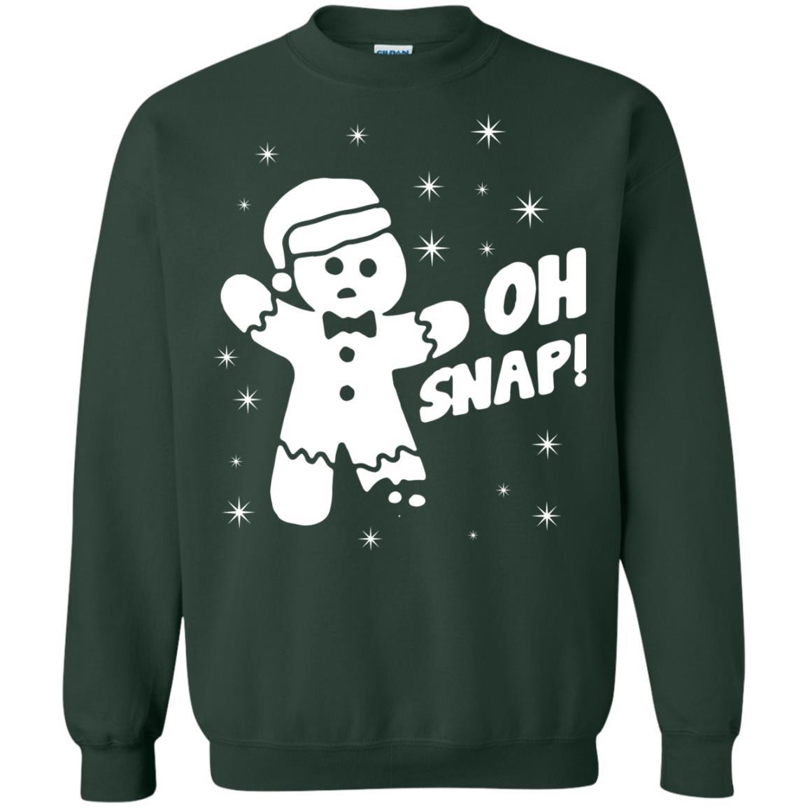 oh snap gingerbread christmas sweater hoodie