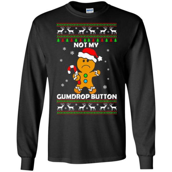 image 1316 600x600 - Not My Gumdrop Button Gingerbread Christmas Sweater, Shirt